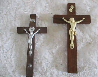 Crucifix INRI Wall Hanging Religious Catholic set of 2 different