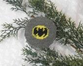 Batman Plastic Canvas Super Hero Christmas Ornament
