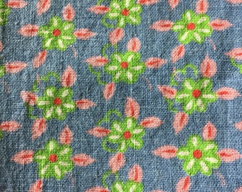 Vintage Feedsack Fabric Pink and Blue
