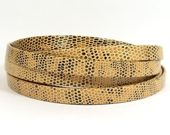 10mm Lizard Texture Leather - Beige - Choose Your Length