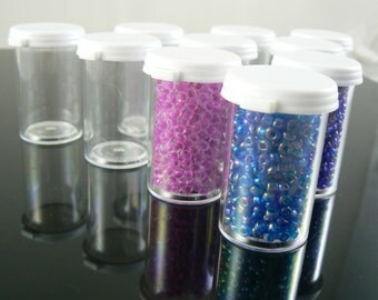 3.5 dram, small plastic containers great for storing beads or other small items, 50 count