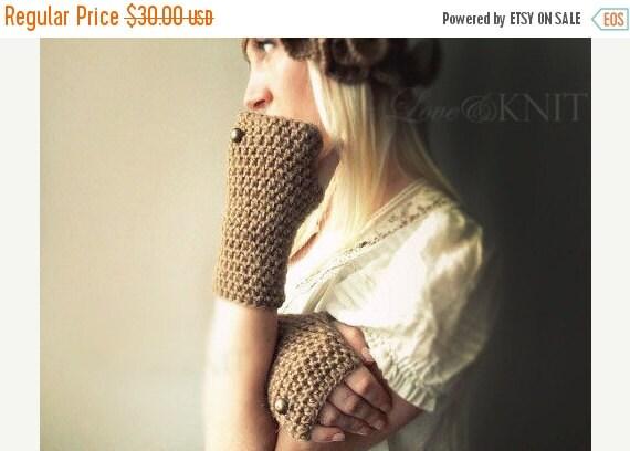 SALE beige fingerless gloves womens fingerless gloves winter gloves cozy hand warmers texting gloves mitts half finger gloves button gloves