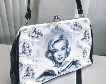 Vintage Styled Marilyn Monroe How to Marry a Millionaire Retro Purse -- Pinup -- Rockabilly