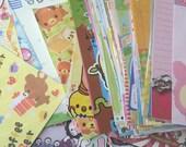 25 loose large kawaii memo sheets