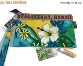 Thanks Is Giving Sale Aloha Wristlet. Repurposed Kona Coffee Bag. Multi Compartment, Credit Card Holders & Zipper Pocket. Kealakekua, Hawaii