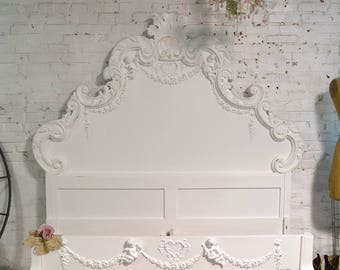 Painted Cottage Shabby Chic French Romantic Bed Queen