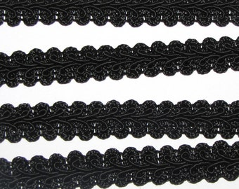 1/2 inch French Gimp Trim favors decor SEWING craft ribbon bolt yards scrapbook black