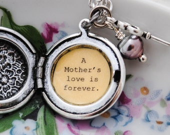 A Mother's love is forever - Mom Locket - Mother Locket - Mother's Day