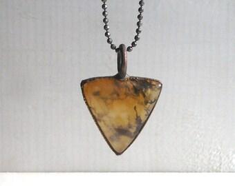 Crystal Necklace Raw Stone Quartz Copper Jewelry Crystal Gemstone Agate Stone Pendant Artisan Midwest Alchemy