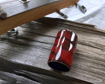 Guitar slide red