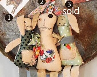 Anti-Bunnies Easter Rabbit Monster Rag Doll Handmade in Australia