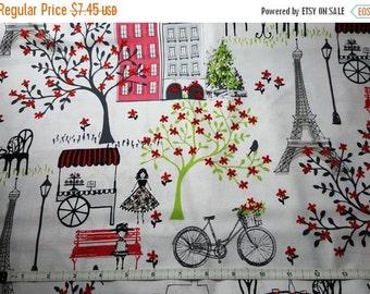 Springtime in Paris Fabric--Eiffel Tower Fabrics--HARD Find-- 40-70% off Patterns Books n Fleece