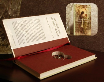 Hollow Book Safe with Heart (Romantic Shakespeare with dust-jacket)