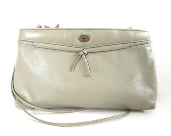 Vintage Khaki Leather Etienne Aigner Purse