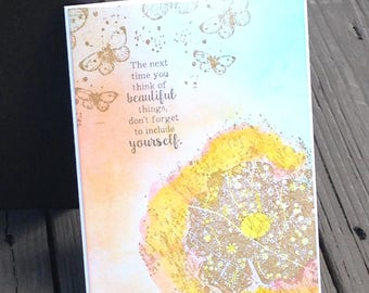 Encouragement Cards for Her, Butterfly Cards, Inspiring Words, Beautiful Things