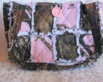 Pink Mossy Oak Camo and Mossy Oak Camo Inspired Handbag Pink Camo Purse Camo Shoulder Bag Tote