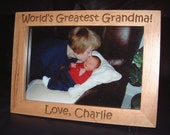 5x7 Engraved Grandmother Frame, Personalized Grandmother Frame, Personalized Grandma Frame, Gift for Grandmas, Grandmother Gifts