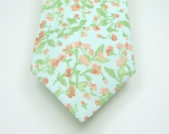 Mint Necktie Mint and Blush Necktie Wedding Neckties Mint Neckties Mint Tie Mens Neckties Custom Neckties Mens Neckties