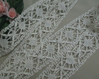 Antique Lace Vintage Lace Trim Cotton Cluny