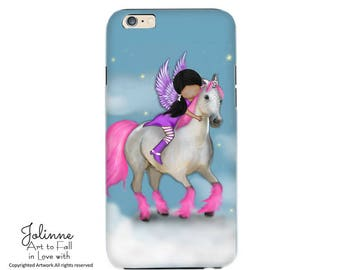 Iphone Case Cover protection Unicorn Horse Picture Samsung Galaxy Phone Case Personalized Case for Phone Kids Girls Artwork Artist Design