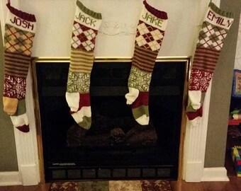Knit Christmas Stockings Custom Christmas Stockings