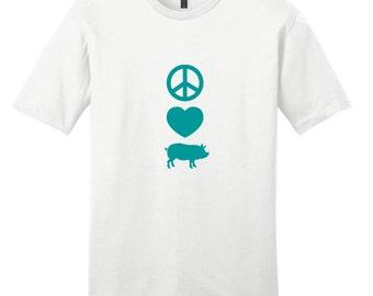 Peace Love Pigs - Funny Farm Animal T-Shirt