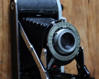Kodak Junior II folding lens camera, vintage photography