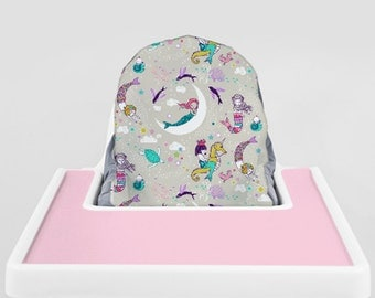 Mermaid Lullaby // IKEA Antilop Highchair Cover // High Chair Cover for the PYTTIG Cushion // Pillow Slipcover