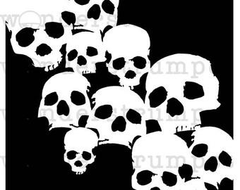 Skull Swoop Stencil
