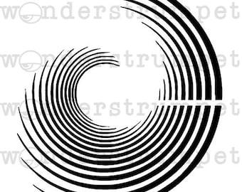 Big Swirl Stencil
