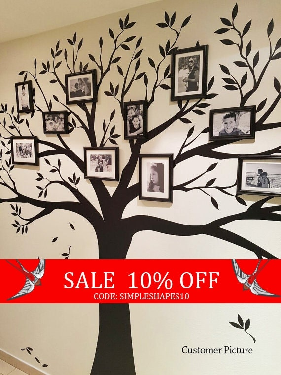 Sale Wall Decal Family Tree Wall Decal Photo By Simpleshapes