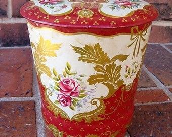 English Biscuit Tin George W Horner Tin English Biscuit Tin Vintage Tin