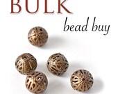 Metal Beads, Filigree Beads, Beads for Enameling, Silver Colored Beads, Filigree, Enameling Supplies, Jewelry Making Supplies, Enamel, 20 pk