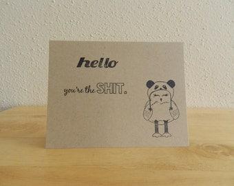 Cute Funny Friendship Card