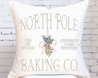 Pillow Cover Christmas Pillow North Pole Baking Co.