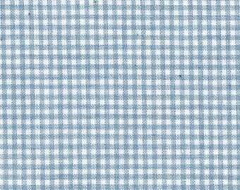 Lecian Melange Cotton Yarn Dyed Fabric - Light Blue Check