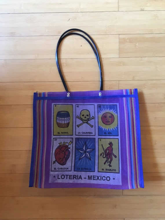 Mexican Mercado Bag 'Loteria' reusable recyclable   Chalupa Mexican Mercado Bags