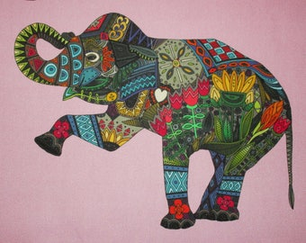 "Elephant Quilt Block 11"""