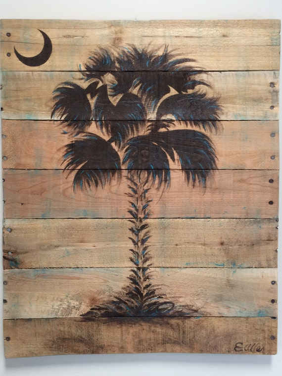 sc palmetto tree palm tree wall art available in custom. Black Bedroom Furniture Sets. Home Design Ideas