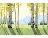 ORIGINAL Bright Meadow - Watercolor Painting
