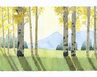 Bright Meadow - Original Watercolor Painting