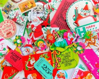 Christmas Ephemera Kit / 100+ Pieces / Daily Planner / December / Junk Journal