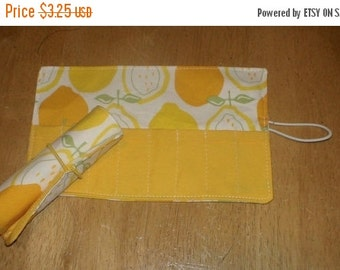 SALE March Madness SALE Crayon Roll Cozy Juicy Lemons