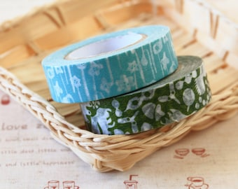 Flowers and Squirrel Classiky Ten to Sen washi masking tape set E