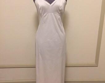 Vintage 1960s 70s Komar Formal White Full Length Long Maxi Slip - 34 - small