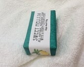 Sweet Melissa all-natural handmade soap with Shea Butter, Tussah Silk, and a Lemony-Mint scent