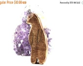 ON SALE bear wooden toy, waldorf animal toys, wood animal toys, bear figurine, vegan kids