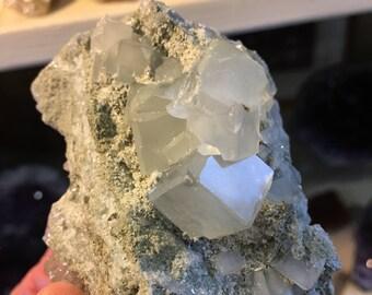 Beautiful Clear Green Fluorite Hunan, China