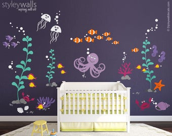 Ocean Wall Decal Etsy - Underwater wall decals