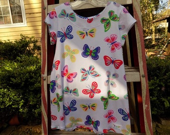 Sweet Cotton Butterfly T-shirt Dress  Size 3  Ready to Ship